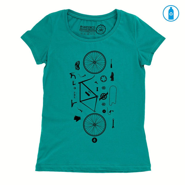Recycled Polyester (PET) Women's T-Shirt - Desconstrubike