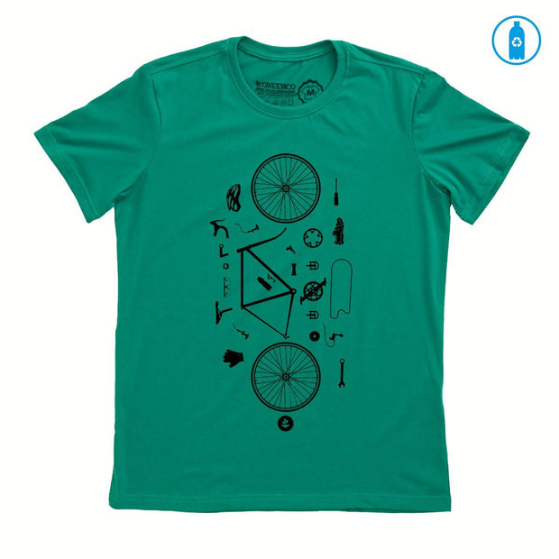 Recycled Polyester (PET) Men's T-Shirt - Desconstrubike