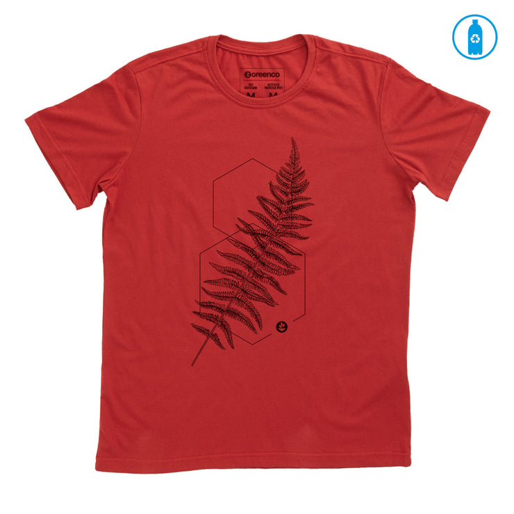 Recycled Polyester (PET) Men's T-Shirt - Graphic fern