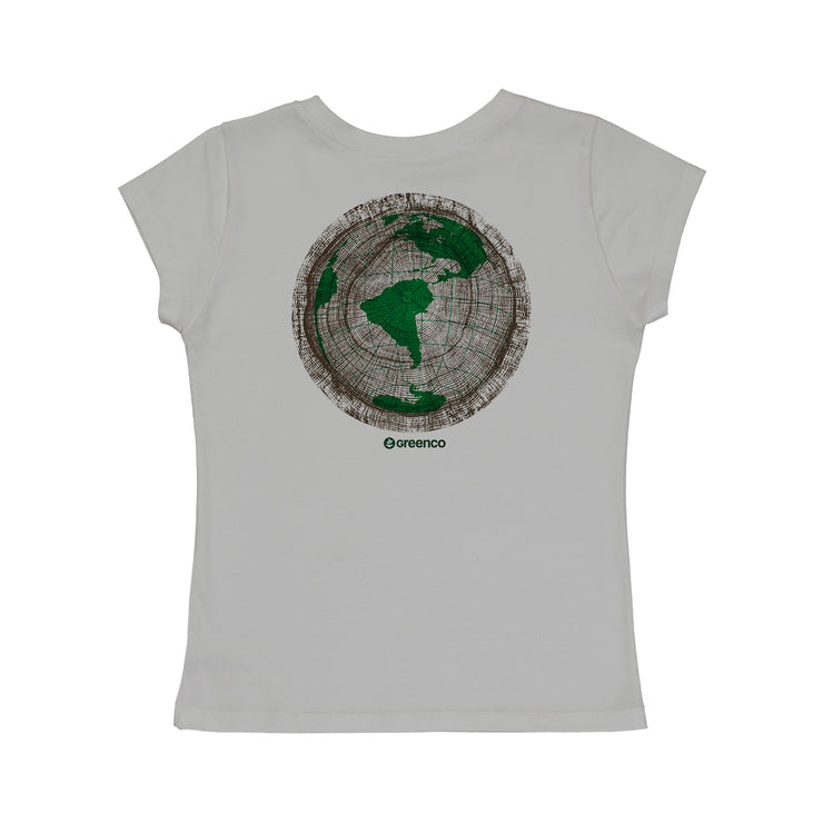 Comfort Cotton Women's V-neck T-shirt - Green Wood World
