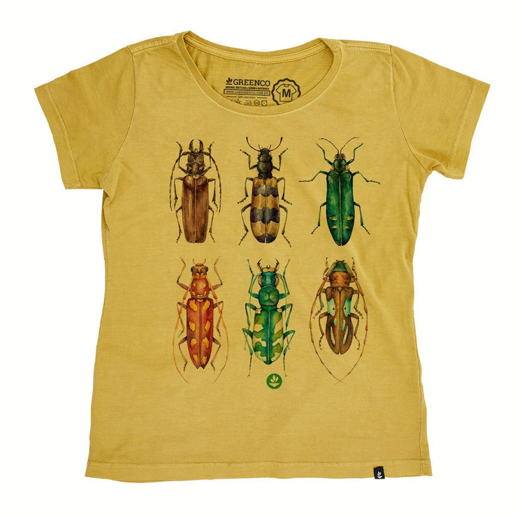 Organic Cotton Women's T-Shirt - Colored Beetles