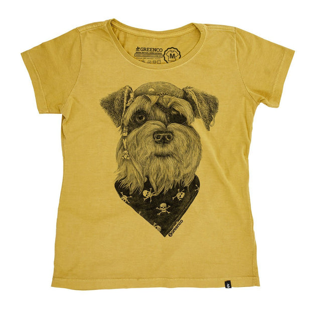 Organic Cotton Women's T-Shirt Pirate Schnauzer - RK