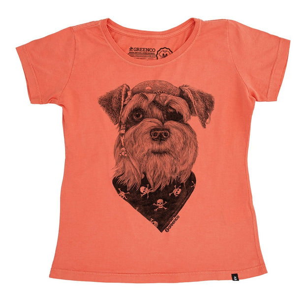 Organic Cotton Women's T-Shirt - Pirate Schnauzer - RK