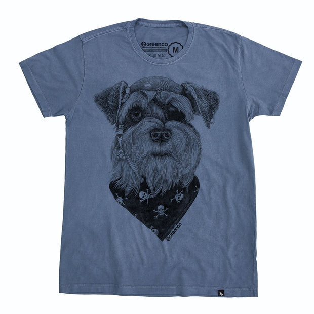 Organic Cotton Men's T-Shirt - Pirate Schnauzer - RK