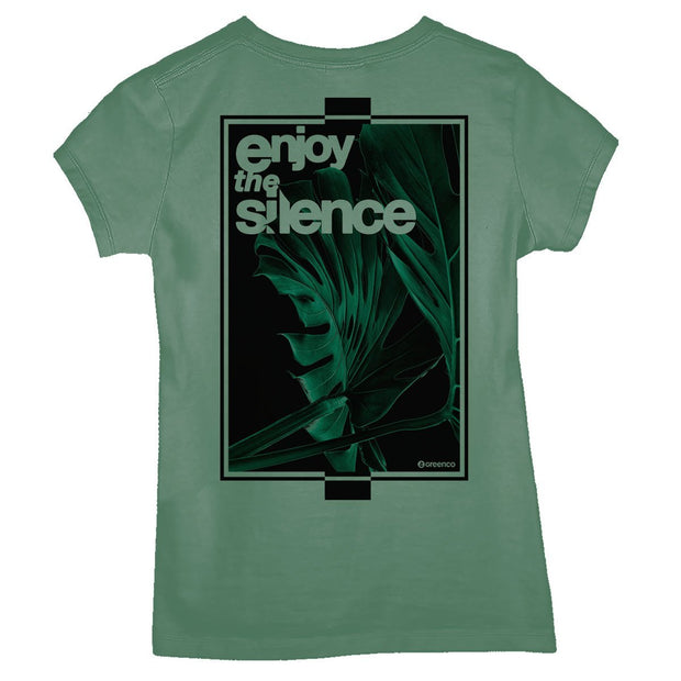 Sustainable Cotton Women's T-Shirt - Enjoy The Silence