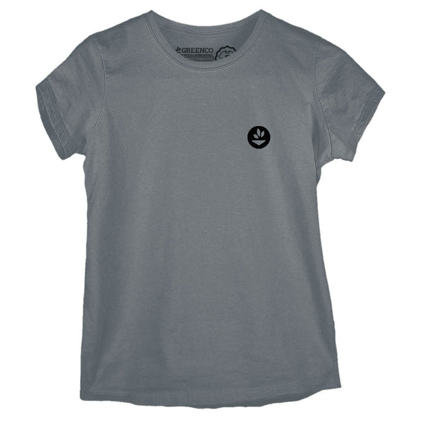 Sustainable Cotton Women's T-Shirt - Geometric Leaves