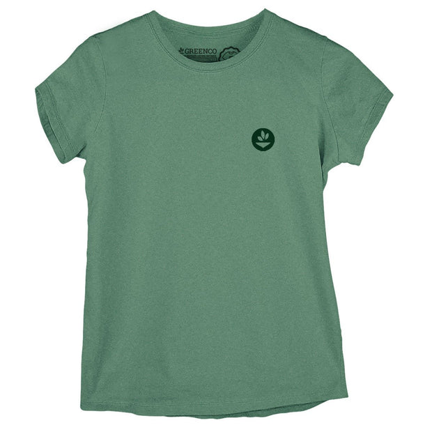 Sustainable Cotton Women's T-Shirt - Green Energy