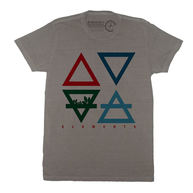 Sustainable Cotton Men's T-Shirt - 4 Elements