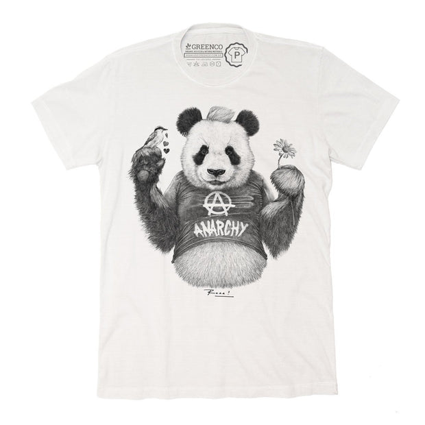 Sustainable Cotton Men's T-Shirt - Punk Panda PB - RK
