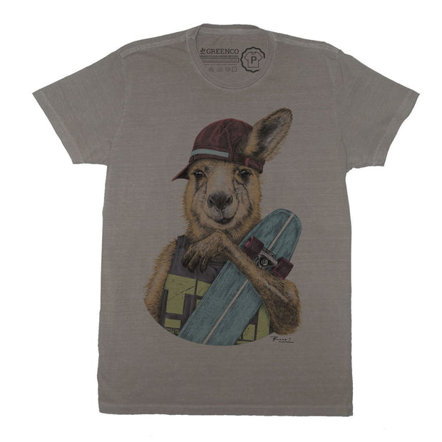 Sustainable Cotton Men's T-Shirt - Skateroo Color - RK
