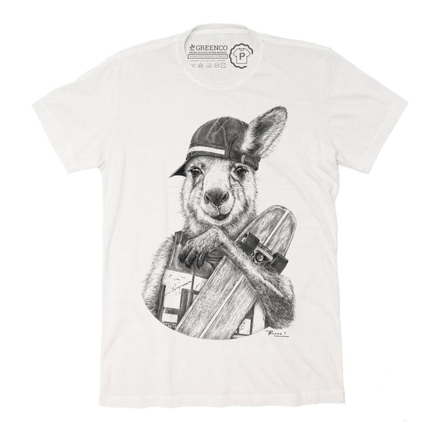 Sustainable Cotton Men's T-Shirt - Skateroo - RK