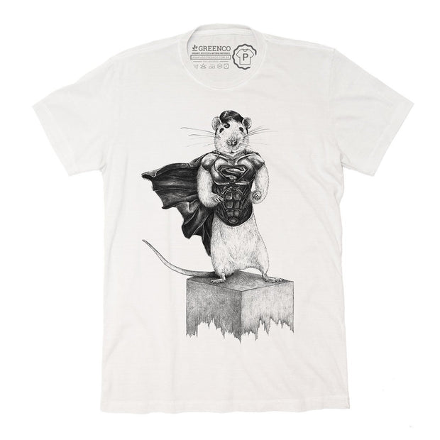 Sustainable Cotton Men's T-Shirt - Super Rat - RK