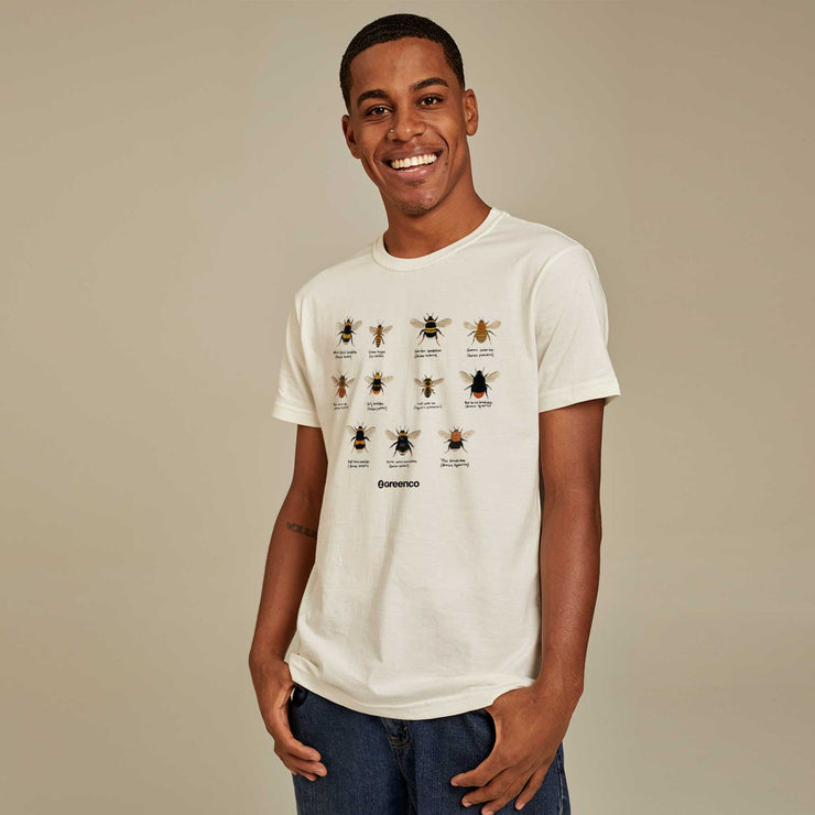 Organic Cotton Men's T-shirt - Bees