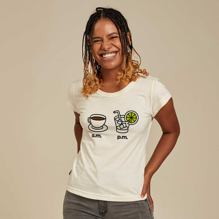 Recycled Polyester + Linen Women's T-shirt - AM PM - Caipirinha