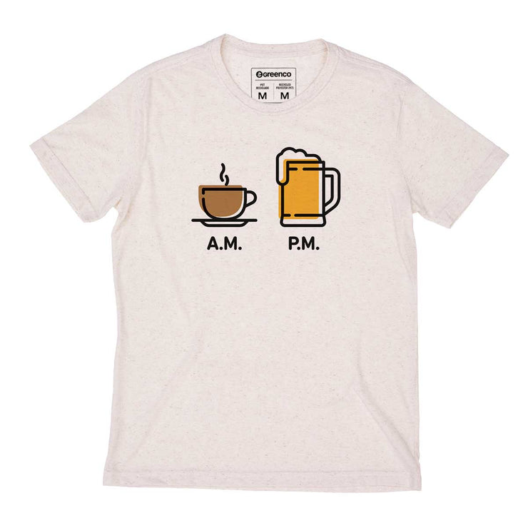 Recycled Polyester + Linen Men's T-shirt - AM PM - Chopp