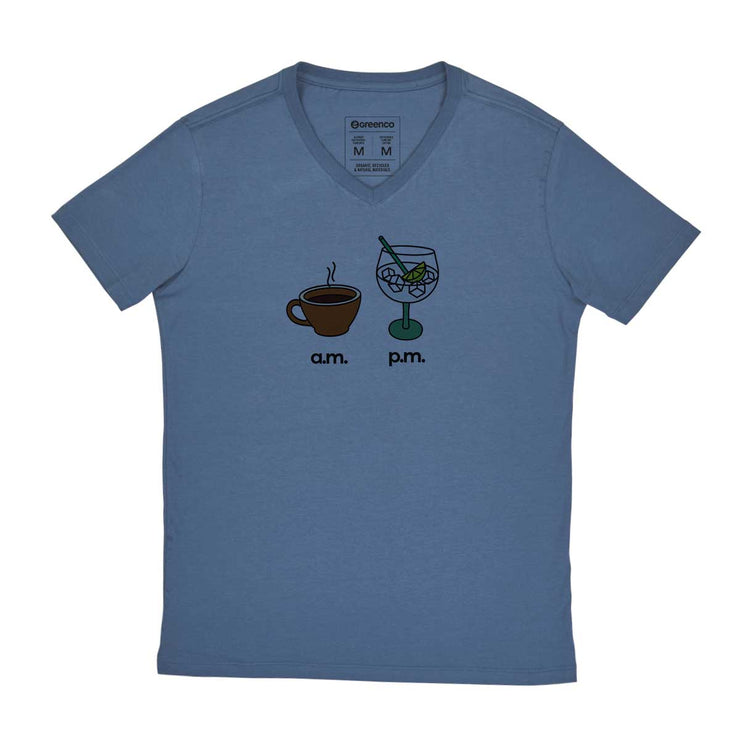 Comfort Cotton Men's V-neck T-shirt - AM PM - Gin