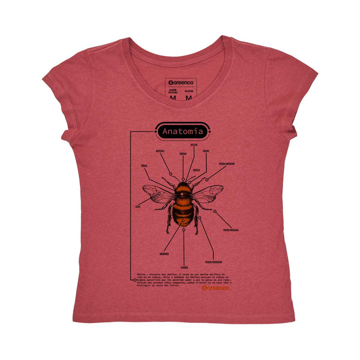 Recotton Women's T-shirt - Anatomy of a Bee