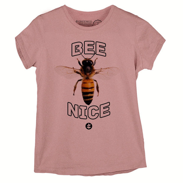 Sustainable Cotton Women's T-Shirt - Bee Nice