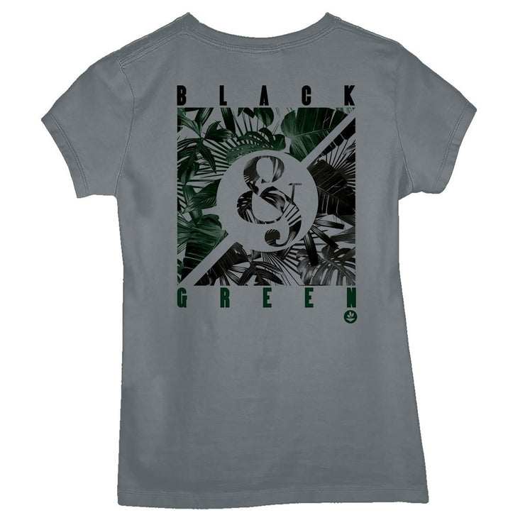 Sustainable Cotton Women's T-Shirt - Black And Green