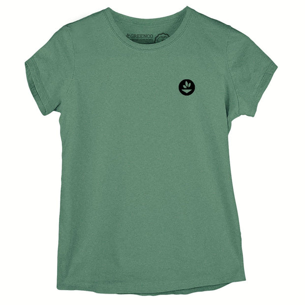 Sustainable Cotton Women's T-Shirt - Green Headdress