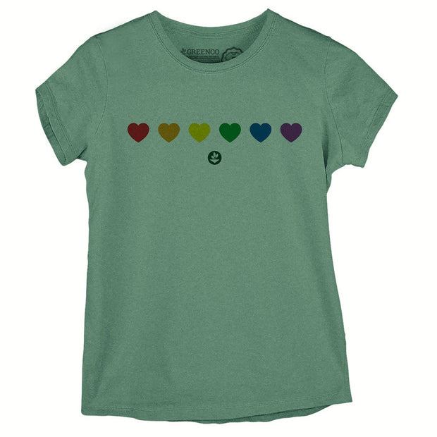Sustainable Cotton Women's T-Shirt - Color Heart