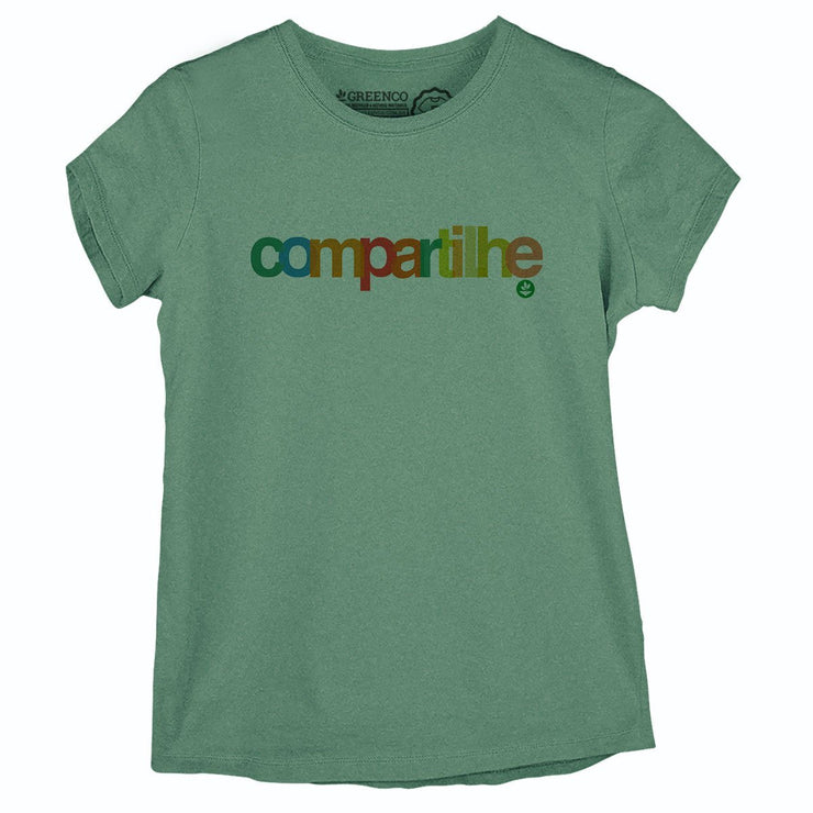 Sustainable Cotton Women's T-Shirt - Compartilhe