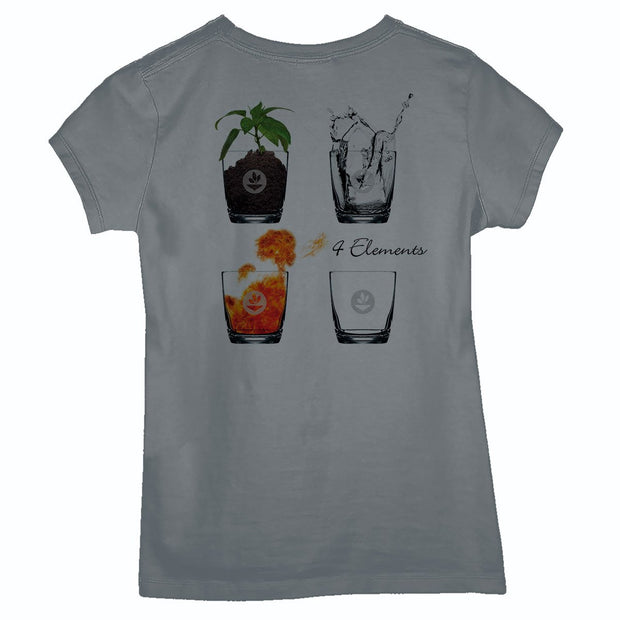 Sustainable Cotton Women's T-Shirt - Glass of the 4 Elements