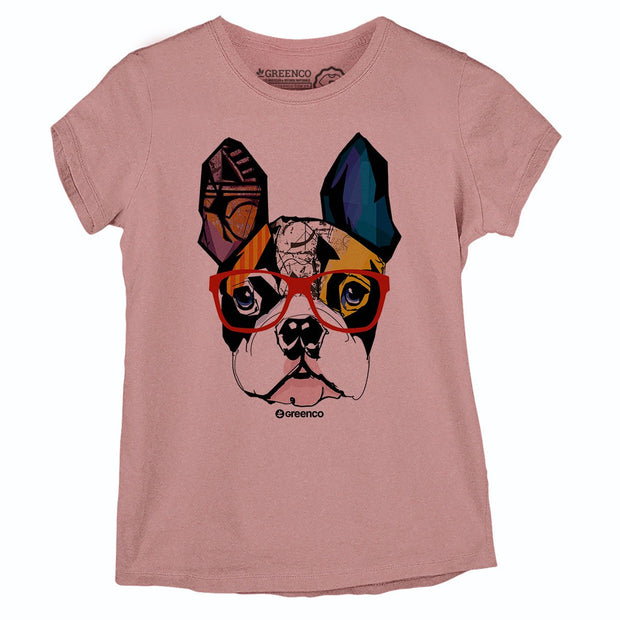 Sustainable Cotton Women's T-Shirt - Dog Hipster