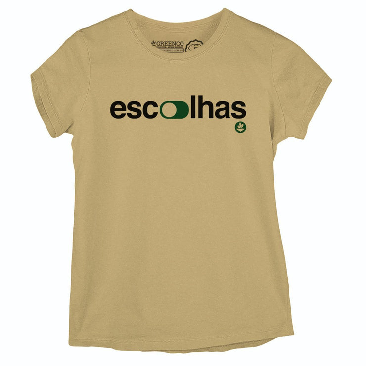 Sustainable Cotton Women's T-Shirt - Escolhas