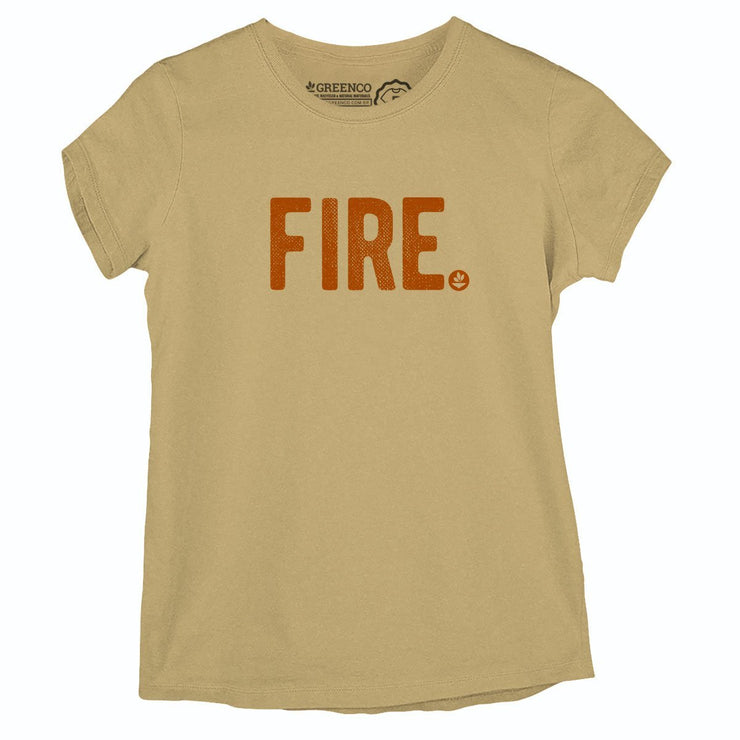 Sustainable Cotton Women's T-Shirt - Fire