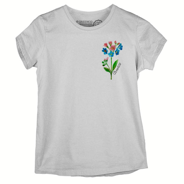 Sustainable Cotton Women's T-Shirt - Watercolor Flower