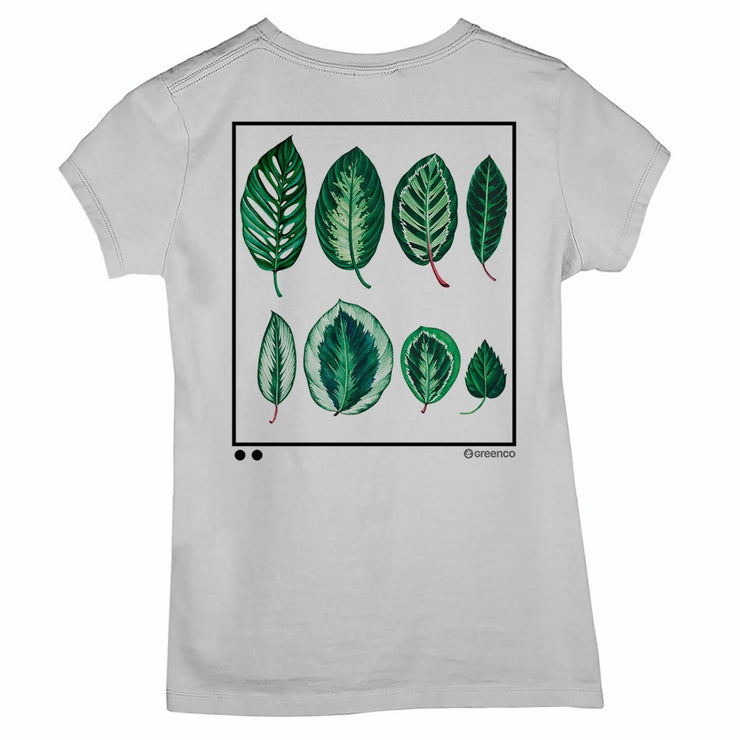 Sustainable Cotton Women's T-Shirt - Leaves