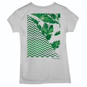 Sustainable Cotton Women's T-Shirt - Graphic Leaves