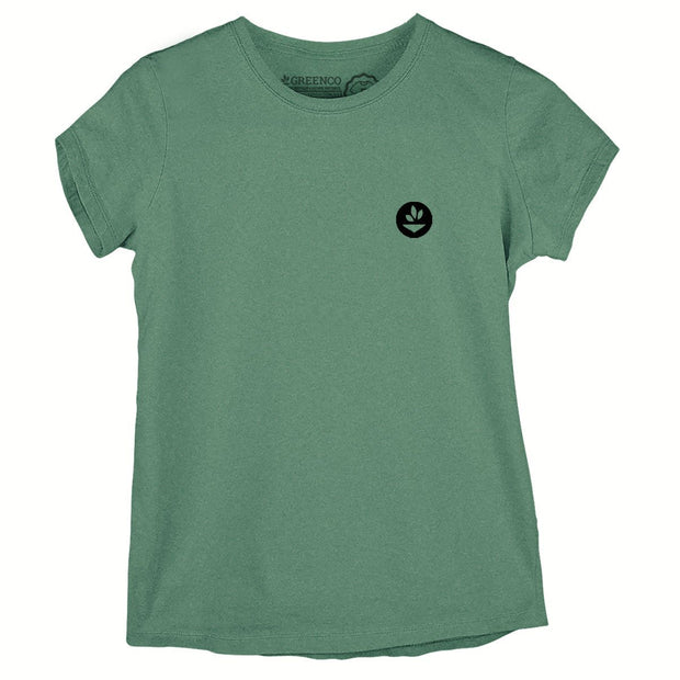 Sustainable Cotton Women's T-Shirt - Green Wood World