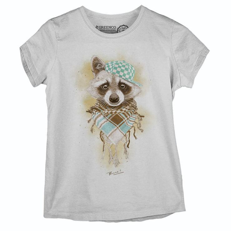 Sustainable Cotton Women's T-Shirt - Rocco Raccoo - RK