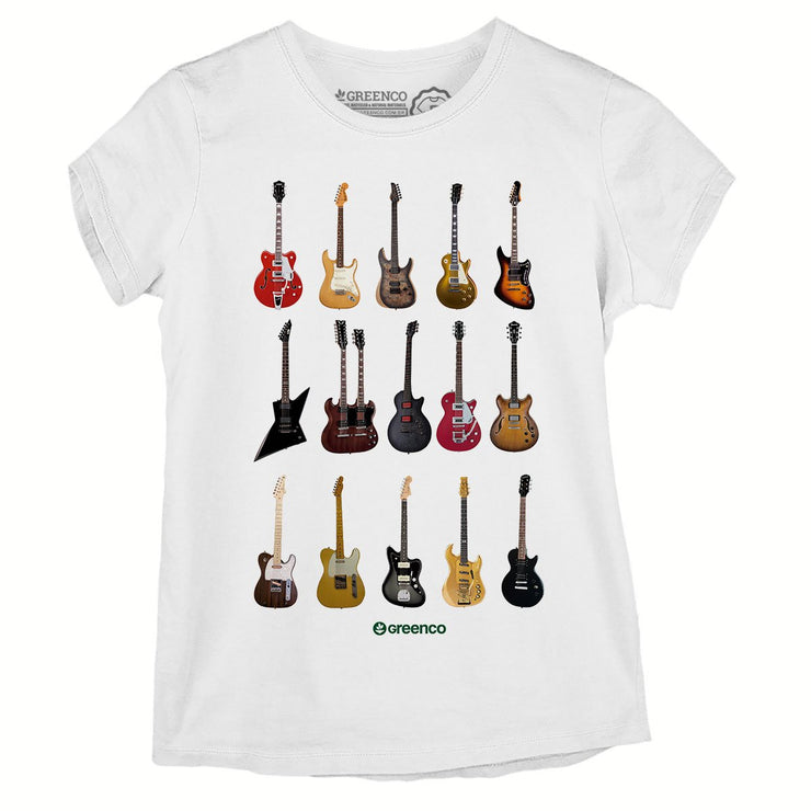 Sustainable Cotton Women's T-Shirt - Guitar Types