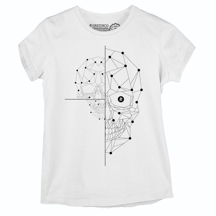 Sustainable Cotton Women's T-Shirt - Half Skull