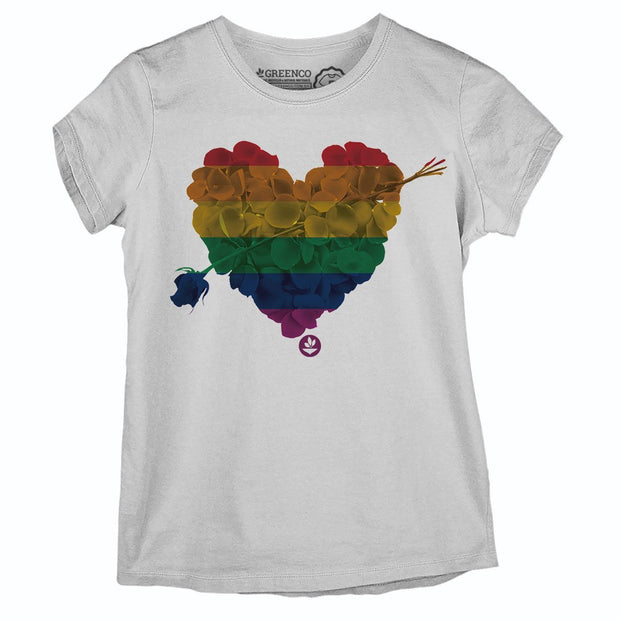 Sustainable Cotton Women's T-Shirt - Heart