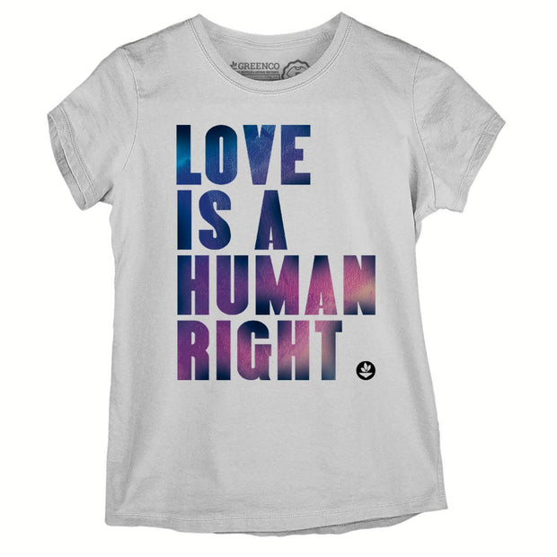 Sustainable Cotton Women's T-Shirt - Love is a Human Right