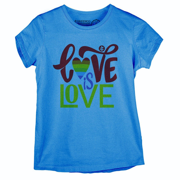 Sustainable Cotton Women's T-Shirt - Love is Love