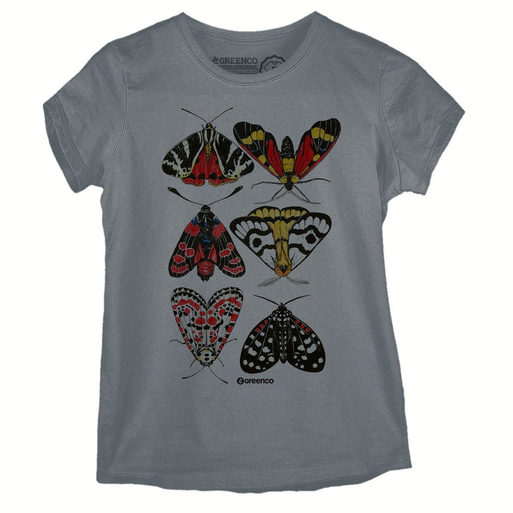 Sustainable Cotton Women's T-Shirt - Moths