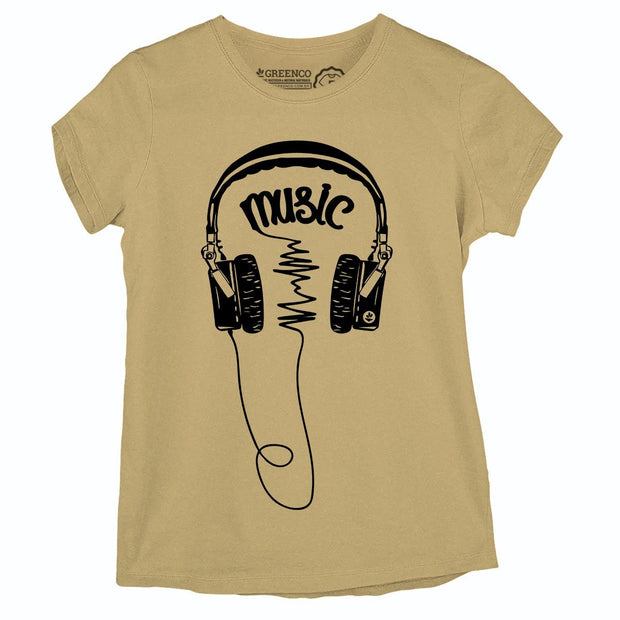 Sustainable Cotton Women's T-Shirt - Music