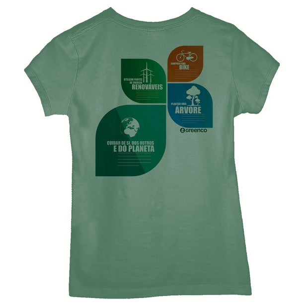 Sustainable Cotton Women's T-Shirt - Nation Leaves