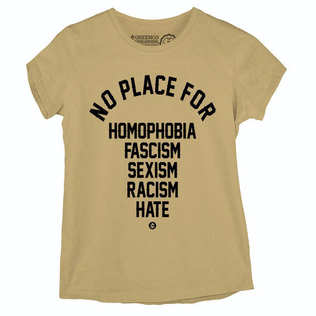 Sustainable Cotton Women's T-Shirt - No Place