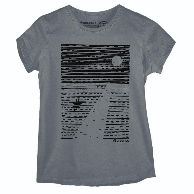Sustainable Cotton Women's T-Shirt - Ocean Moon