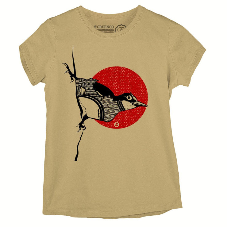 Sustainable Cotton Women's T-Shirt - Bird