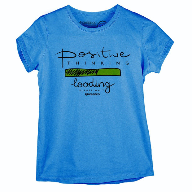 Sustainable Cotton Women's T-Shirt - Positive Thinking
