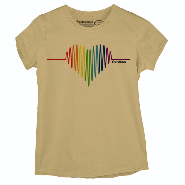 Sustainable Cotton Women's T-Shirt - Pride Heart