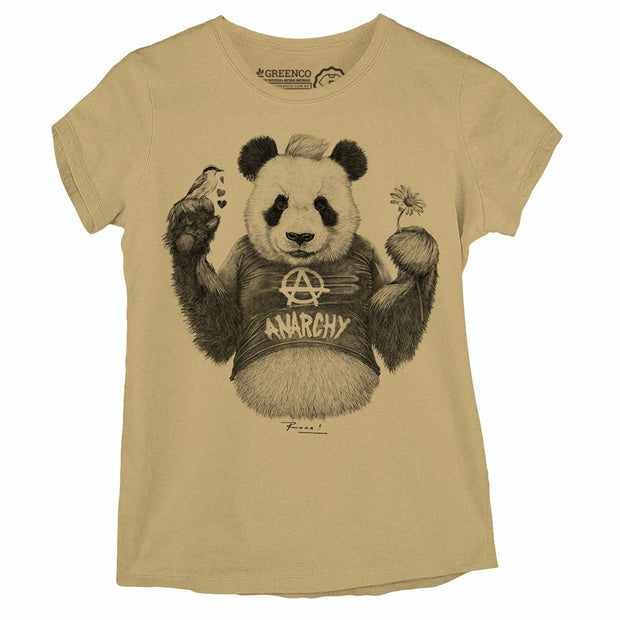 Sustainable Cotton Women's T-Shirt - Punk Panda PB - RK