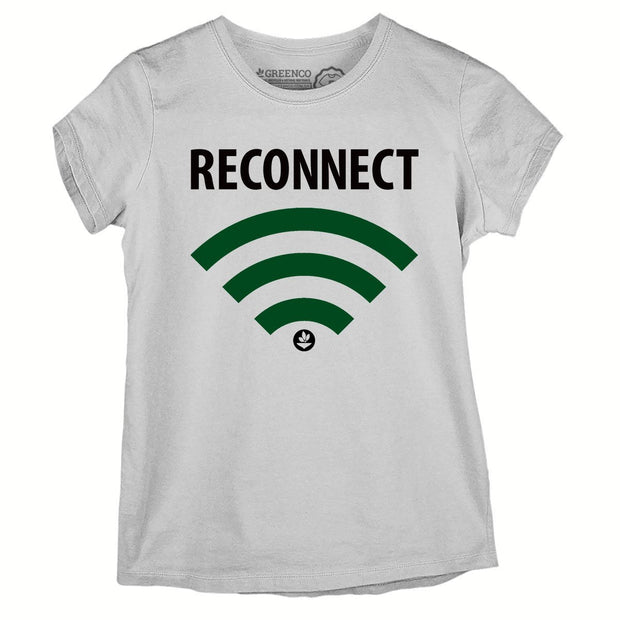 Sustainable Cotton Women's T-Shirt - Reconnect